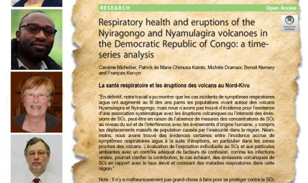 Respiratory health and eruptions of the Nyiragongo and Nyamulagira volcanoes in the Democratic Republic of Congo: a time-series analysis